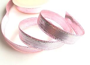 Galantéria - stuha lesklá ružová 15mm - 10415182_