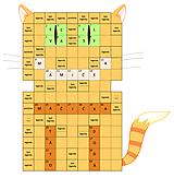 Grafika - Krížovka v tvare mačičky - 10416182_