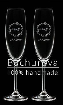 Nádoby - Svadobné poháre na zakázku pre_annadusenkova - 10417089_