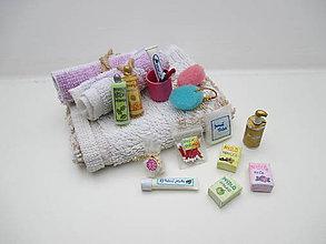 Hračky - MINI Kúpeľňový set pre Barbie - aj s veľkým darčekovým košíčkom - 10416366_