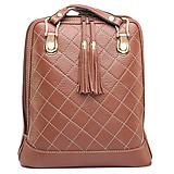 Batohy - Luxusný kožený ruksak z pravej hovädzej kože so strapcami v horčicovej farbe - 10414656_