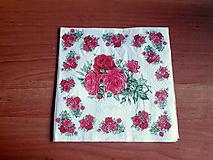 Papier - servítka ružičky - 10415035_