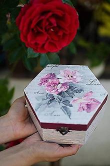 Krabičky - Krabička ružičky /zľava z 10e/ - 10414734_