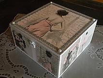 Krabičky - Krabička, šperkovnice vintage Paris - 10416273_