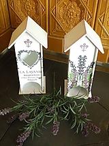 Domek na čajové sáčky - levandule