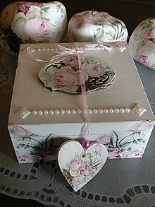 Darčeky pre svadobčanov - Svatební krabička,romantická šperkovnička - 10416886_