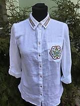 Košele - Ľanová košula - 10417616_