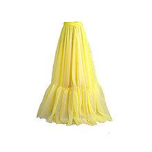 Sukne - Boho kruhová šifónová sukňa s volánom rôzne farby - 10417003_
