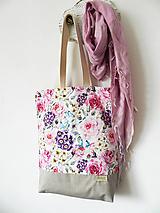 Nákupné tašky - taška samá ruža, samý kvet - 10414779_