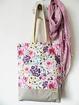Nákupné tašky - taška samá ruža, samý kvet - 10414780_