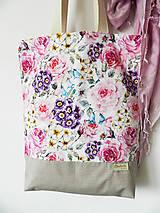 Nákupné tašky - taška samá ruža, samý kvet - 10414781_