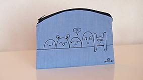 Taštičky - Plátená taštička ručne maľovaná- monsters - 10414523_