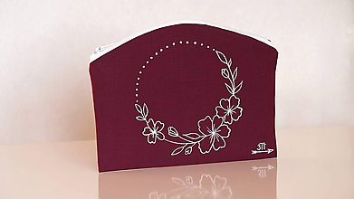 Taštičky - Plátená taštička ručne maľovaná- polovenček - 10414756_