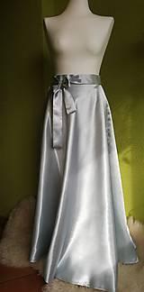 Sukne - Dlhá strieborná sukňa - 10415379_