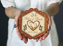 Prstene - Svadobný tanierik 2v1 - Kvet - 10416030_