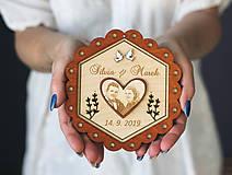 Prstene - Svadobný tanierik 2v1 - Kvet - 10416031_
