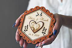 Prstene - Svadobný tanierik 2v1 - Kvet - 10416033_