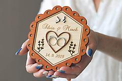 Prstene - Svadobný tanierik 2v1 - Kvet - 10416035_