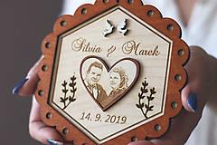Prstene - Svadobný tanierik 2v1 - Kvet - 10416036_