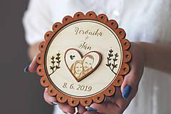 Prstene - Svadobný tanierik 2v1 - Margarétka - 10416147_