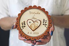 Prstene - Svadobný tanierik 2v1 - Margarétka - 10416149_