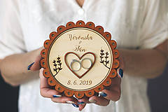 Prstene - Svadobný tanierik 2v1 - Margarétka - 10416150_