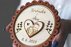 Prstene - Svadobný tanierik 2v1 - Margarétka - 10416151_