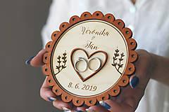 Prstene - Svadobný tanierik 2v1 - Margarétka - 10416152_