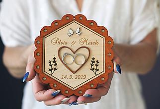 Dekorácie - Svadobný tanierik 2v1 - Kvet - 10416034_