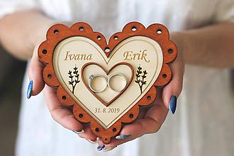 Dekorácie - Svadobný tanierik 2v1 - Srdce - 10416126_