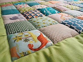 Textil - Patchwork prikrývka pre bábätko - 10416904_