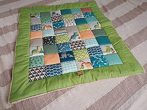 Textil - Patchwork prikrývka pre bábätko (pre chlapčeka) - 10416907_