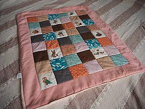 Textil - Patchwork prikrývka pre bábätko (pre dievčatko) - 10416919_