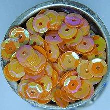Iný materiál - Flitre lomené oranžové AB 6mm - 10416715_