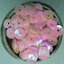 Iný materiál - Flitre lomené ružové AB 6mm - 10416752_
