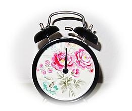 Hodiny - Vintage BUDÍK kvety ♥ - 10417639_