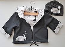 Detské oblečenie - Labuť Žofia (bunda + čiapka) - 10415762_