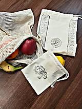 Úžitkový textil - Zero Waste Sada vreciek z bio bavlny - 10415448_