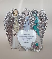 Socha - Trojica anjelov s venovaním - 10415359_