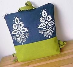 Batohy - Lea/folk v zelenom - 10414874_