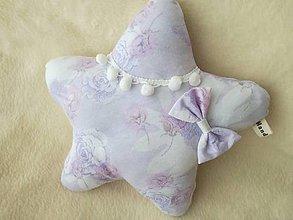 Úžitkový textil - Children's pillow - detský vankúš hviezda. - 10416359_