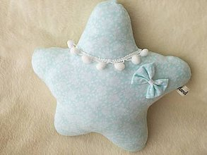 Úžitkový textil - Children's pillow - detský vankúš hviezda. - 10416368_