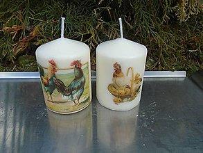 Svietidlá a sviečky - kohútiky a sliepočky - 10416004_