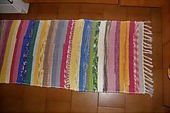 Úžitkový textil - Tkaný koberec pestrofarebný 8 - 10416928_
