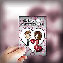 Papiernictvo - Valentínske míľnikové kartičky srdiečkové - 10414509_