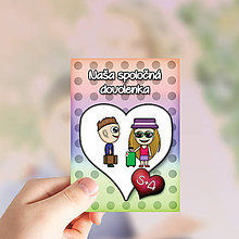 Papiernictvo - Valentínske míľnikové kartičky puntíkové - 10416395_