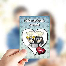 Papiernictvo - Valentínske míľnikové kartičky puntíkové (varenie) - 10416397_