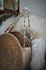 Veľké tašky - Letná taška z morskej trávy a jutového špagátu - 10415322_