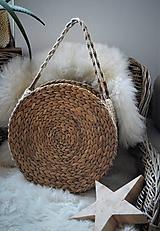 Veľké tašky - Letná taška z morskej trávy a jutového špagátu - 10415324_