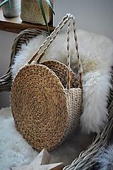 Veľké tašky - Letná taška z morskej trávy a jutového špagátu - 10415325_